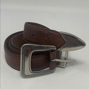 Vintage western boho brown faux leather belt